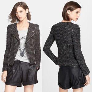 SALE! • McGinn • Carly Tweed Moto Jacket Charcoal